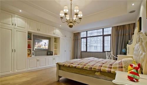 主卧电视柜效果图 你家的电视柜都选好了吗图片