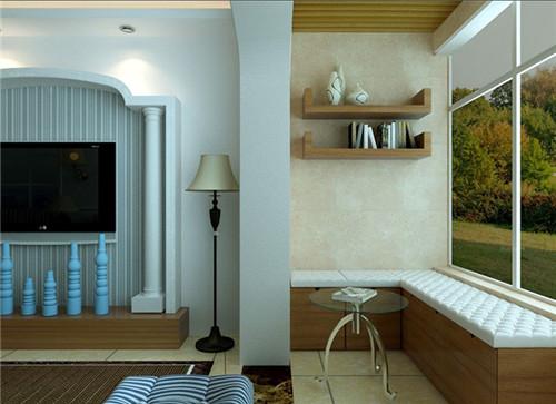 阳台柜子装修效果图 简约风格小阳台柜子设计图片