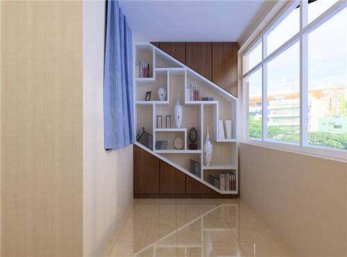 阳台柜子装修效果图 简约风格小阳台柜子设计高清图片