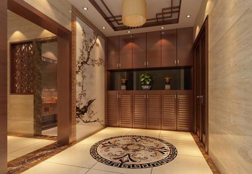中式装修玄关效果图 演绎中式古典风情