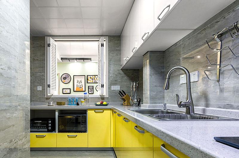 75平简约二居装修厨房效果图设计