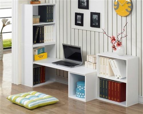 我想你的孩子一定会喜欢在这可爱温馨的书柜电脑桌上学习哦.