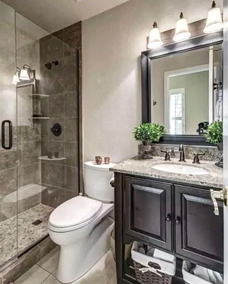 卫生间大理石洗手台布置图
