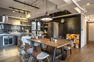 115平混搭风格两居餐厅效果图装修
