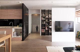 70平北欧风格二居电视背景墙隔断