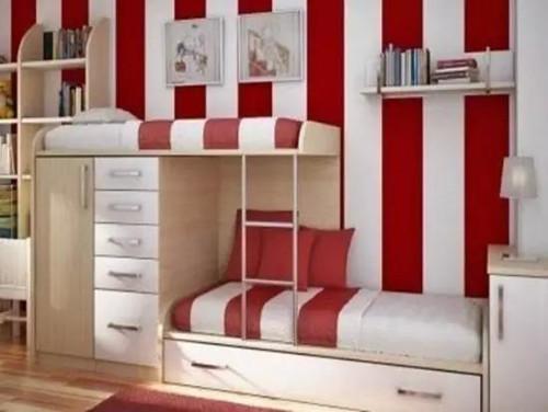 儿童房高低床装修效果图 几款流行的儿童上下铺装修图片