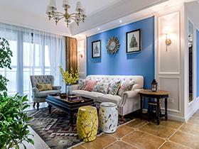 93平混搭美式风格三室两厅装修 阳光和煦