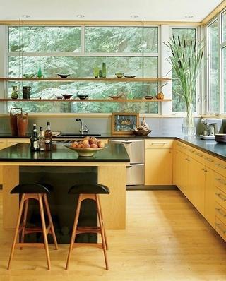 开放式厨房吧台装修效果图