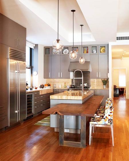 大户型厨房吧台装修设计图