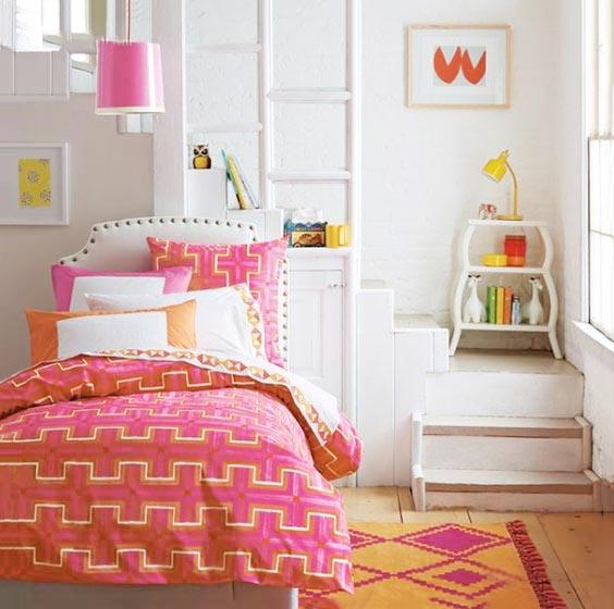 粉色儿童房装修图片大全