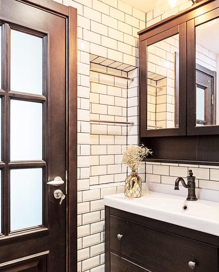 110平混搭风格婚房装修卫生间装修图片