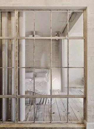 卧室玻璃隔断布置装修图