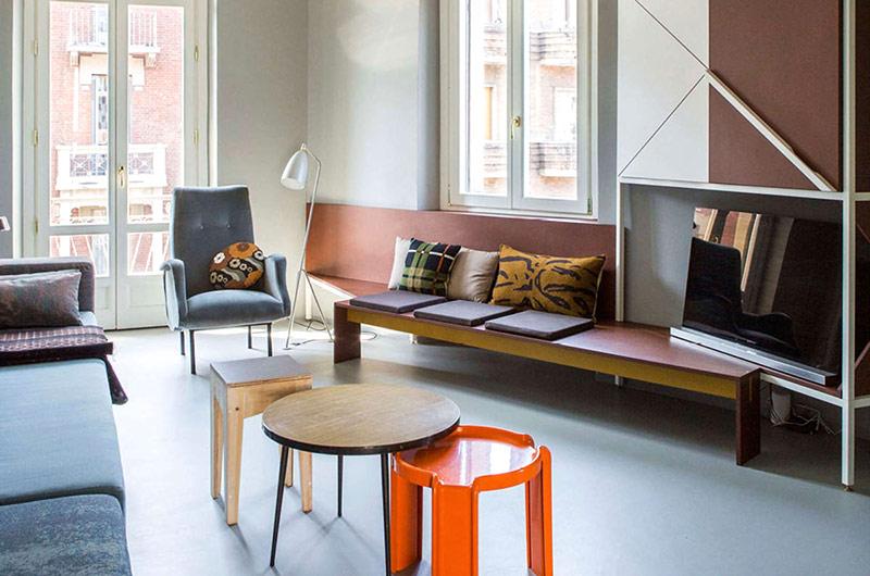 90平小户型公寓装修客厅效果图