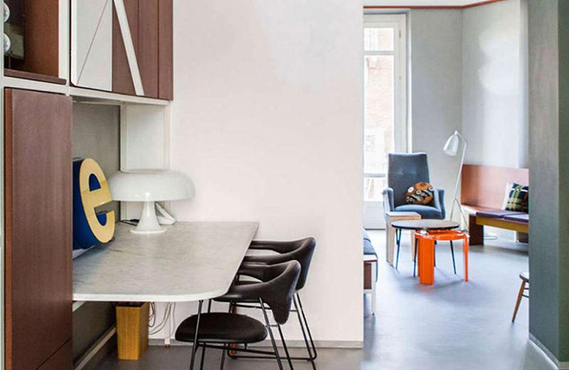 90平小公寓装修折叠书桌设计