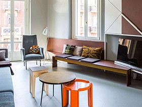 90平小户型公寓效果图 用色彩划分空间