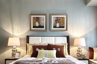 125平样板房装修卧室壁纸图片
