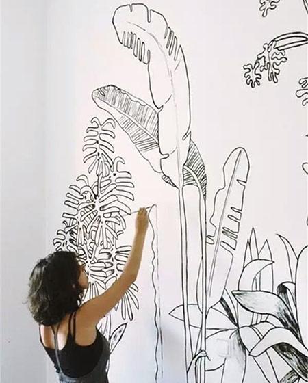 个性手绘背景墙图片