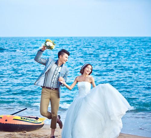 婚纱海景图片大全 拍海景婚纱照注意事项
