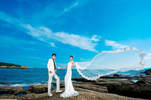海边婚纱照片大全 国内适合婚纱照的海滩有哪些