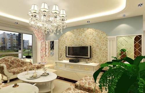田园风格客厅一直是女孩子的最爱,它的主要特点是颜色鲜明,主要体现