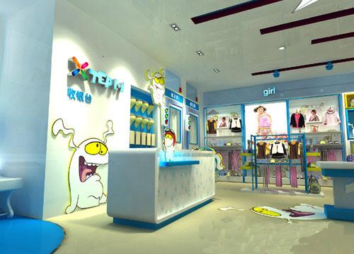 童装店装修效果图大全 20平小儿童装店装修设计图片