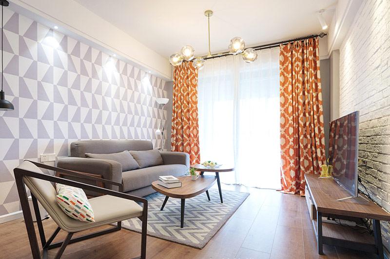 88平北欧风格两室两厅装修效果图