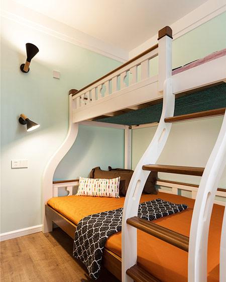 88平北欧二居儿童房高低床设计图