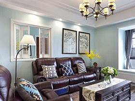 120平美式风格公寓装修图 绿意浅浅