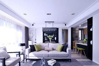 115平简约风格三室两厅室内设计图