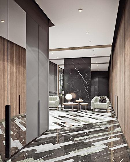 简约风格公寓装修地板砖图片
