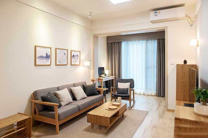 90平两居室装修小客厅设计