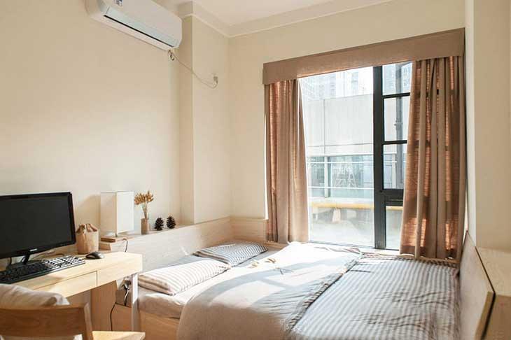 90平两居室装修次卧设计