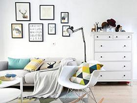 120平北欧风格公寓效果图 服装设计师的家