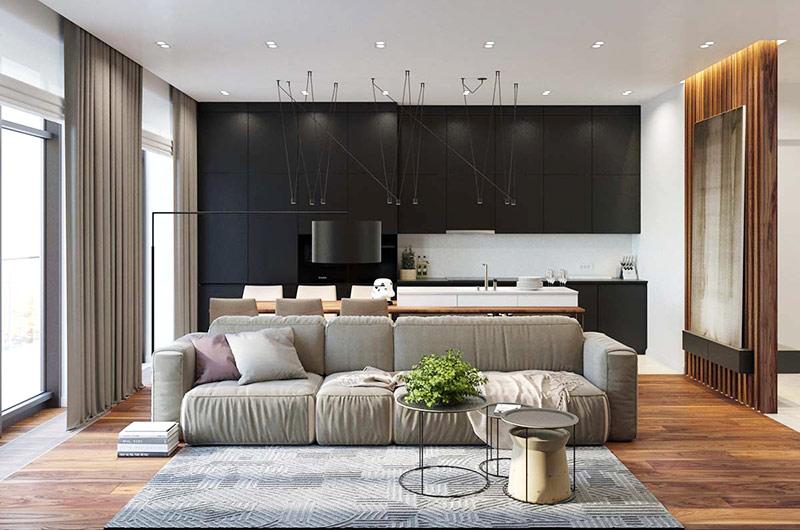 工业风格单身公寓装修效果图