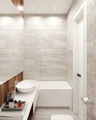 工业风格单身公寓装修浴缸效果图
