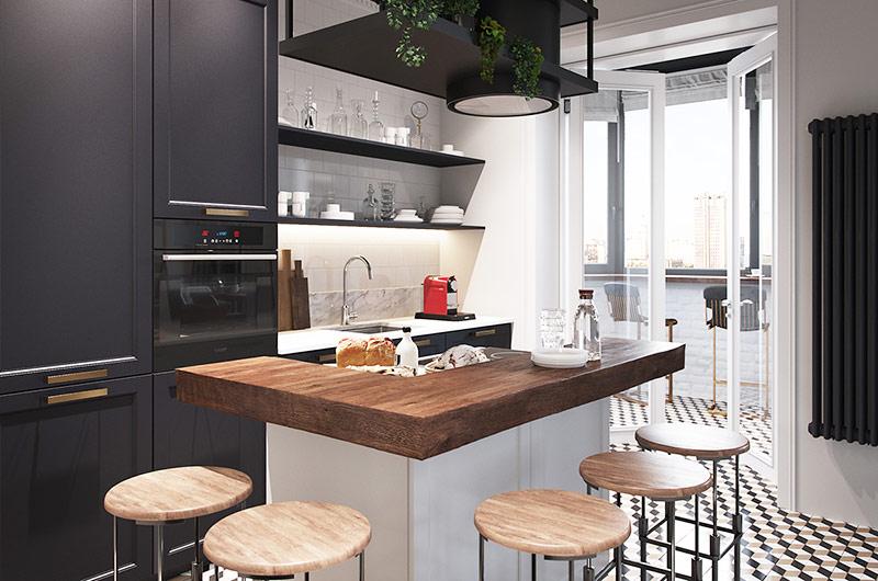 111平二居室装修厨房装修设计