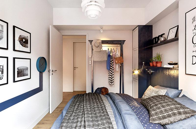 60平北欧风格小公寓装修 营造温暖与质感