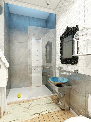 简约风浴室布置参考图