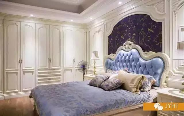 美式卧室床头背景墙图片