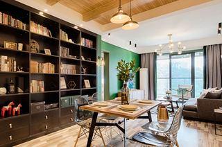 70平北欧风格二居书柜图片大全