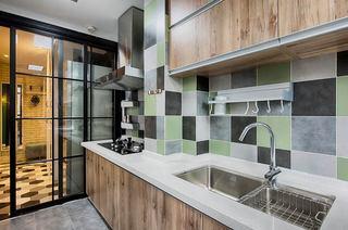 70平北欧风格二居厨房装修图