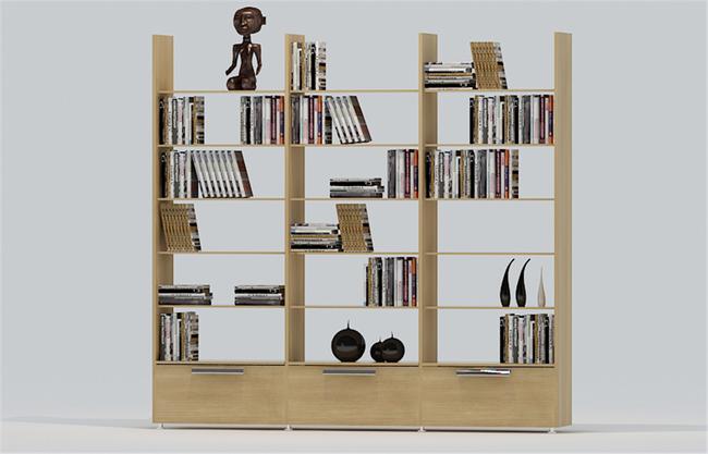 书柜隔断效果图 巧用书柜作隔断分区