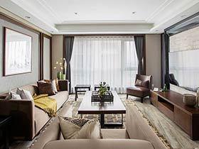 现代中式风格三居室装修 低调不失精致感