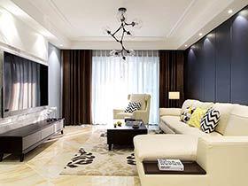 130平简约风格三室两厅装修 简洁大气之家