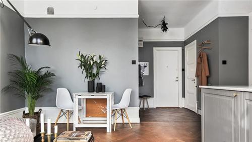 迷你公寓装修效果图 6万打造经典时尚北欧风公寓_按__