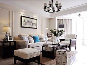 124平美式风格三居室装修图片 温馨成画