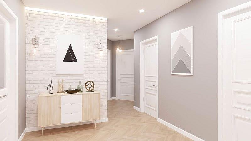 北欧三居室装修展示柜设计图