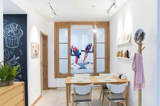 110平日式三居室餐厅效果图装修