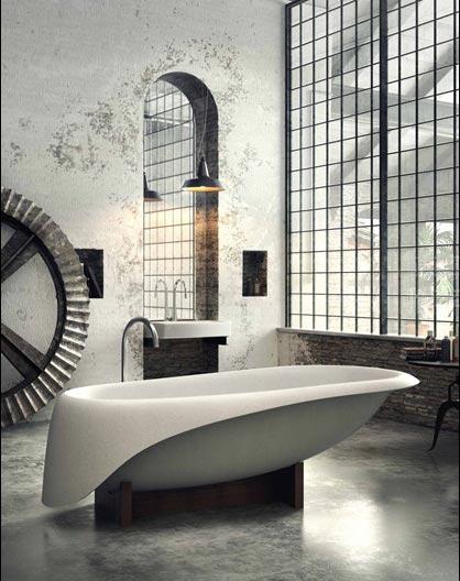 复古风浴室实景图片大全