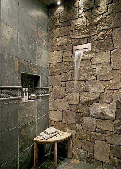 复古浴室布置装修图片